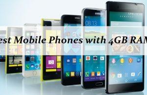 Smartphones with 4GB RAM