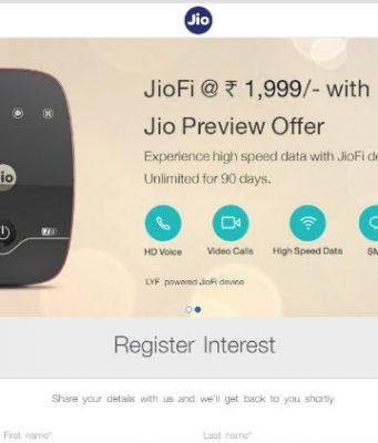 JioFi 224GB 4G Data