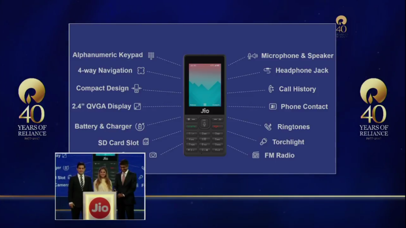 Reliance Jio 4G phone