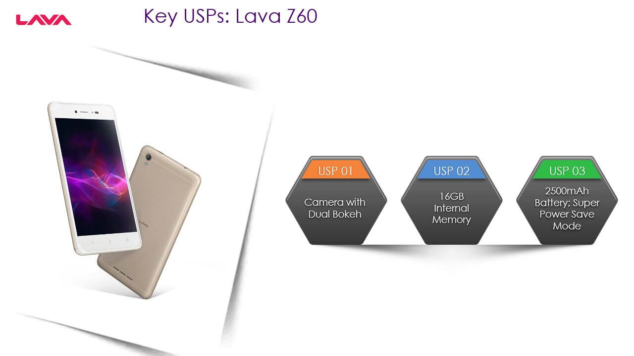 Lava Z60 Specification