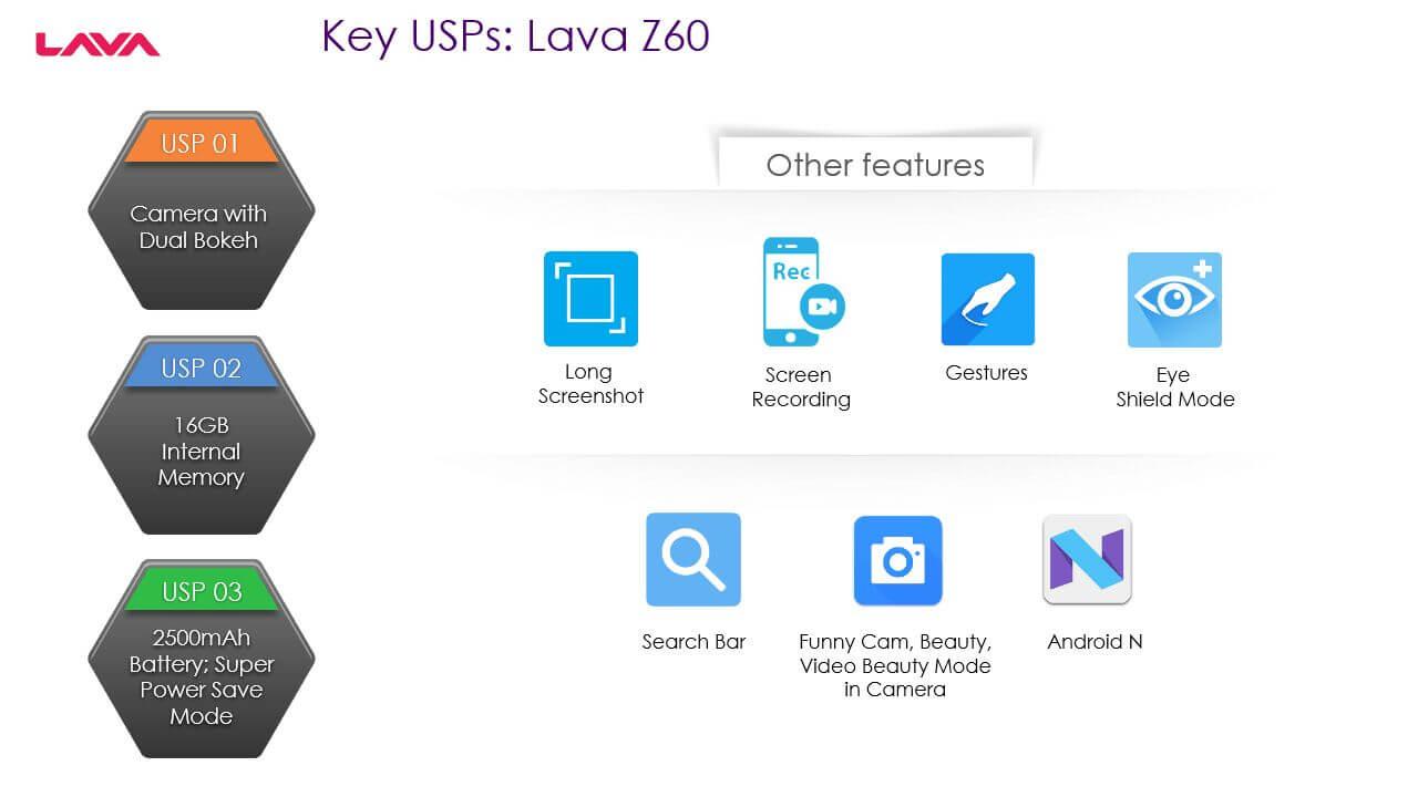 Lava Z60 Specification
