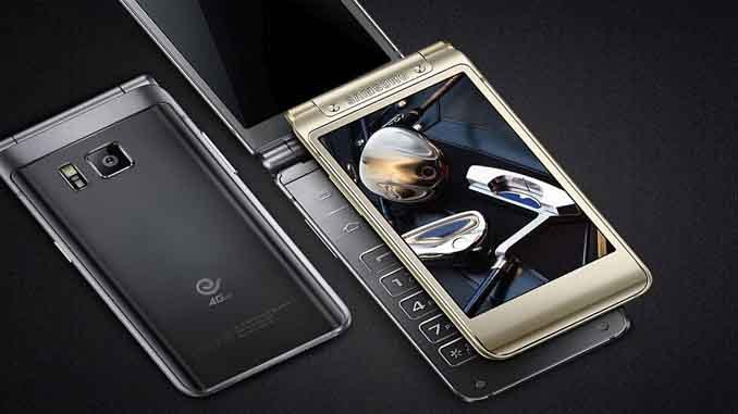 Samsung W2018 Flagship Clamshell Smartphone