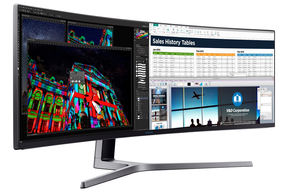 Samsung launches 49-inch curved monitor