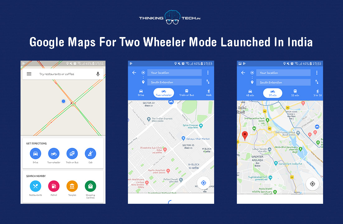 Google Maps For Two Wheeler Mode Launched In India