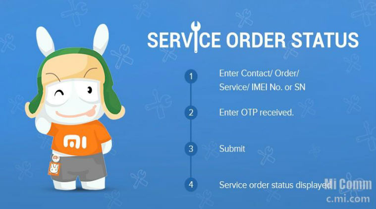 Xiaomi Mi Service Order Status
