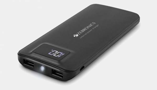 Zebronics 20,000 mAh Power Bank