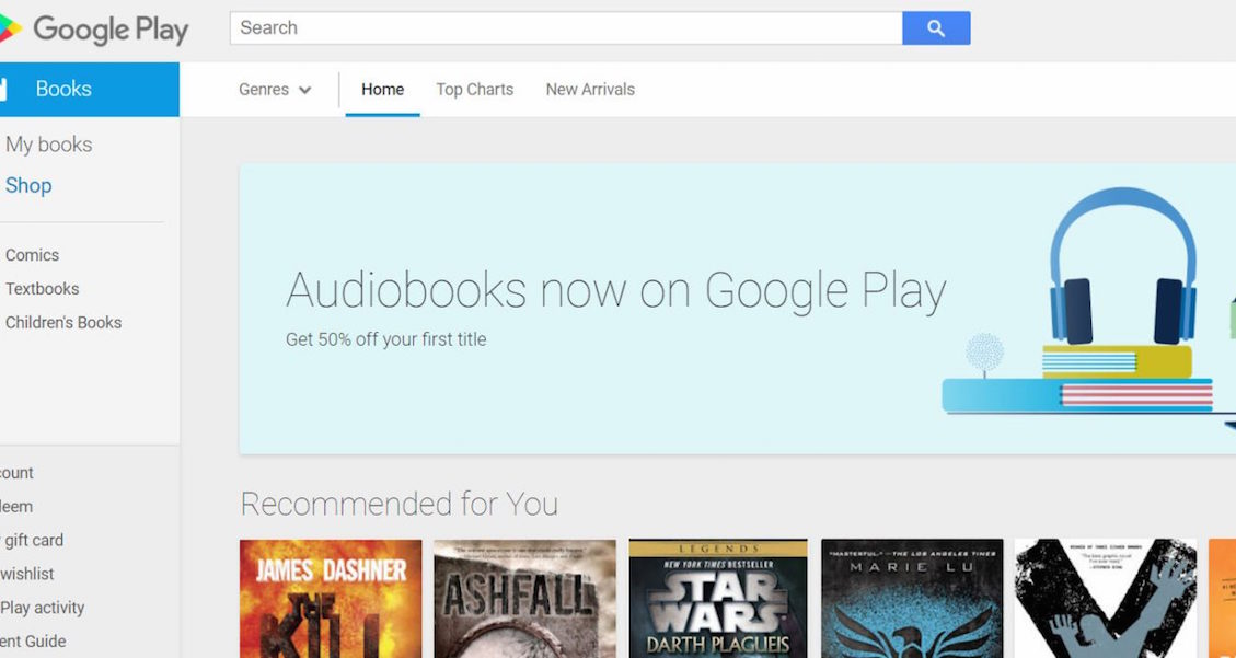 Audiobooks From Google Play Store App
