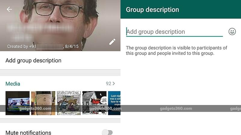 Group Description Feature