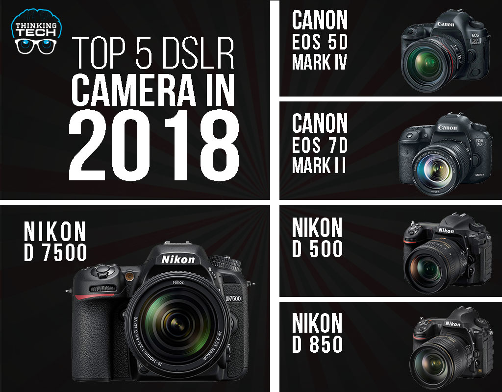 Top 5 Dslr Cameras Of 2018 With Unique And Amazing Qualities