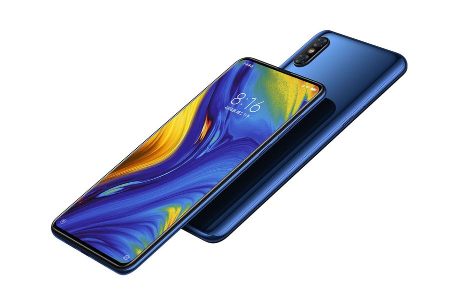 The Mi MIX 3 with a camera slider