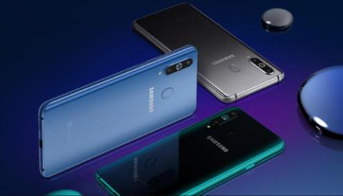 Samsung Galaxy A8s display and design
