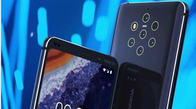 Nokia 9 Pureview display