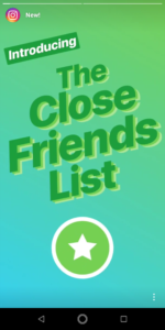 Instagram Close Friend Feature