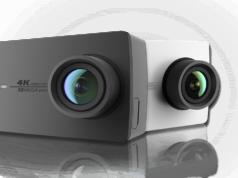 Yi Action Camera display and lens