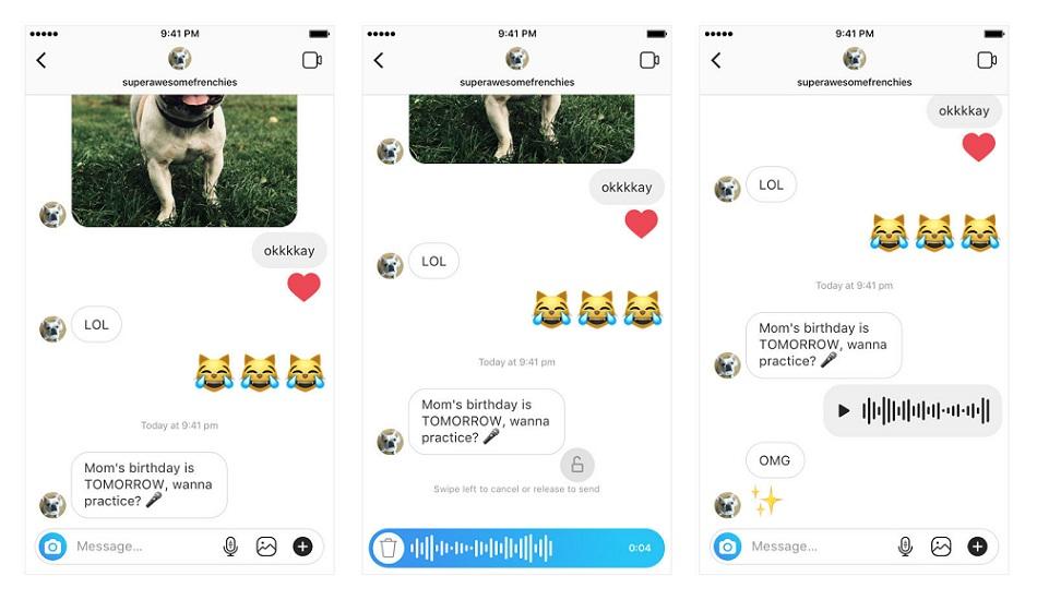 Instagram Voice Message feature update
